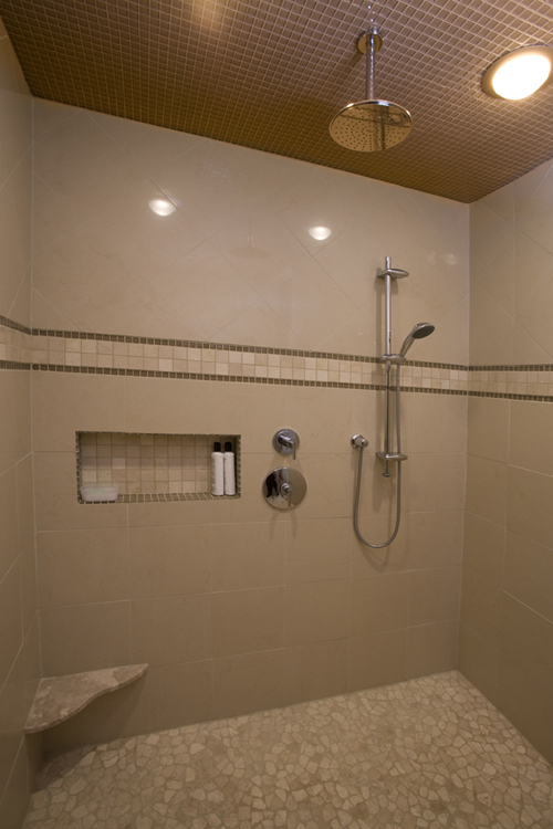 After pic of shower design and installation for NC Design Online, North Carolina