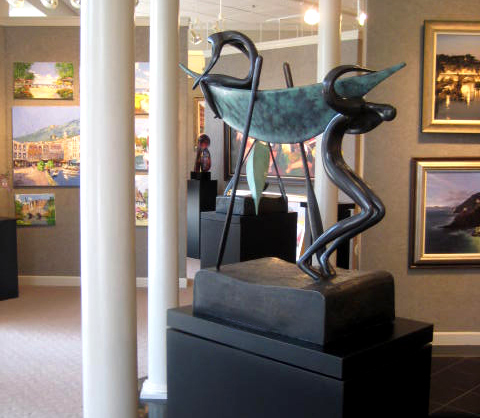 Sculpture: Looking for Deep Water by Bronstein, NC Design Online, North Carolina.