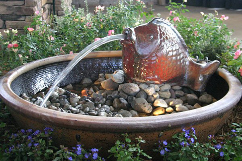 Fontaine Outdoor Living Water Feature presented by North Carolina Design Online