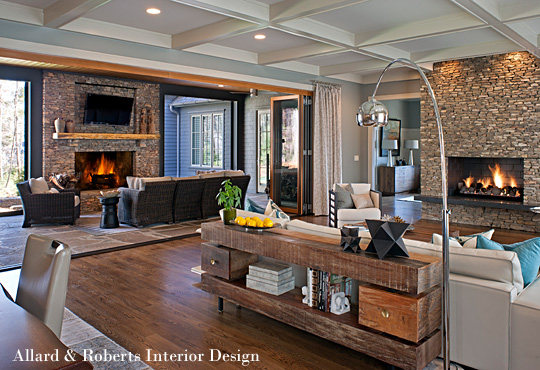 Rustic Living Room By Markham Roberts Inc By: The Beauty Of Homeowner-Driven Interior Design