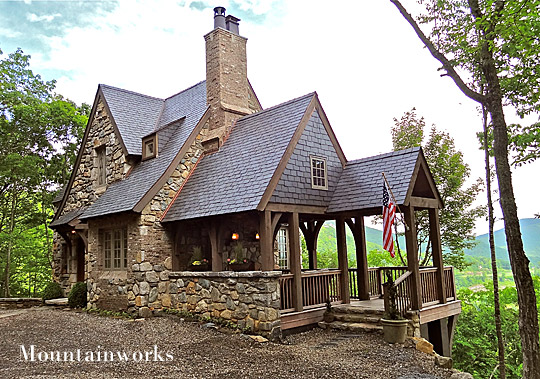 Nothing could be finer in north carolina nc design online for Stone cottage plans and photos