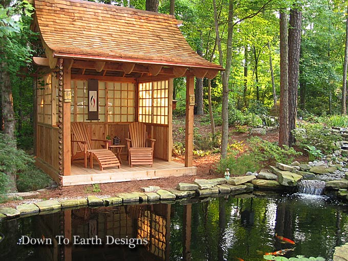 Beautiful raleigh landscape designs with koi ponds nc for Wooden koi pond construction