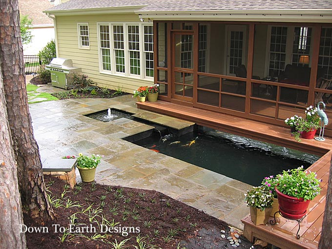 Beautiful raleigh landscape designs with koi ponds nc for Landscape design raleigh