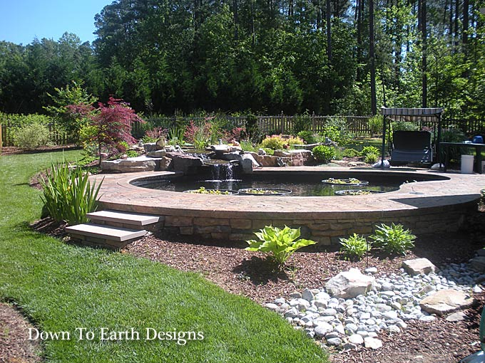 Beautiful Raleigh Landscape Designs With Koi Ponds Nc