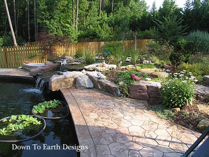 Beautiful raleigh landscape designs with koi ponds nc for Carolina koi farm