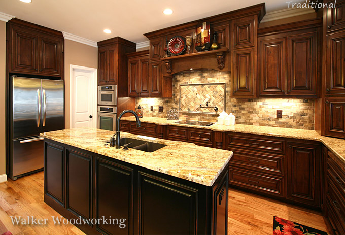 Walker woodworking traditional 5 for Traditional kitchen