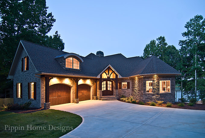 Pippin home designs lake norman water views in every for Water view home plans