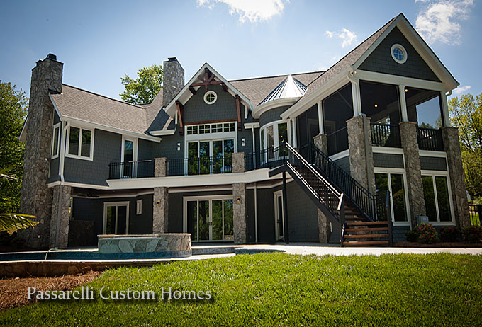 Lake norman custom builders passarelli custom homes nc for Custom home online
