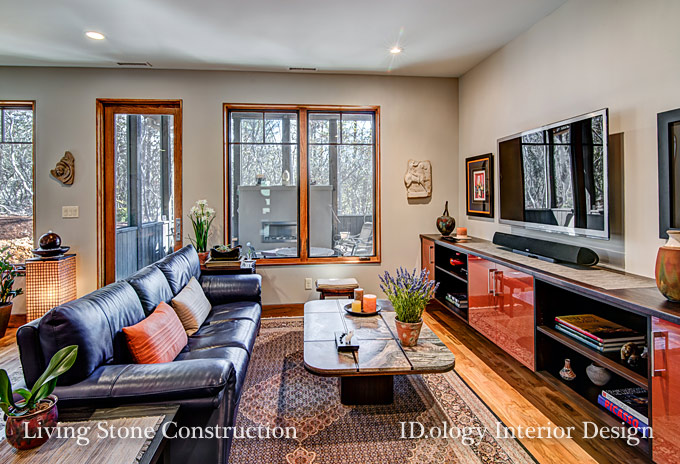 Asheville builder interior designer duo create beautiful for Drywall that absorbs voc